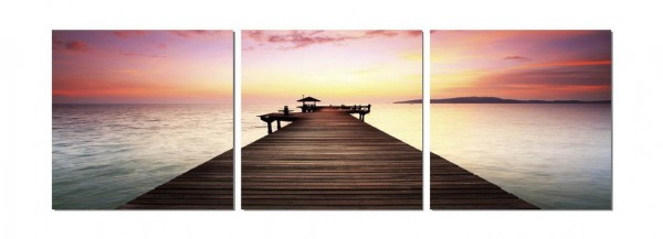 Pier In The Distance Triptych