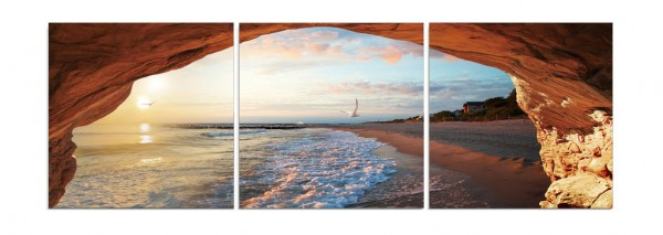 Grotto on the Beach Triptych