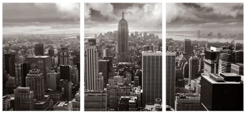 Empire State Building Triptych