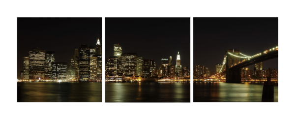 New York City Skyline Triptych