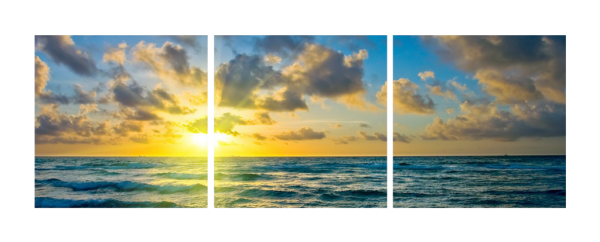 Ocean and Sun Triptych