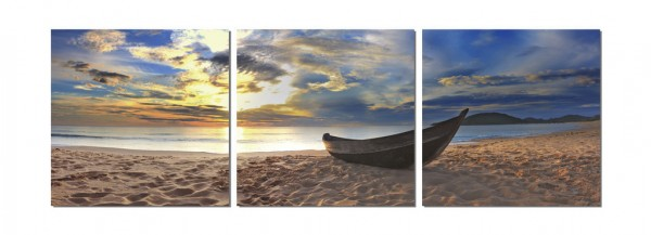Fishing at Sunset Triptych