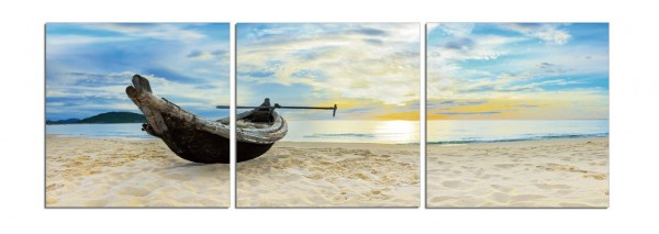 Boat In The Sunrise Triptych