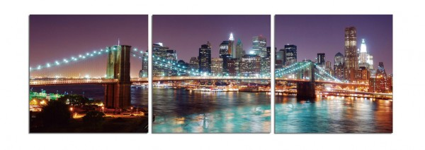 Downtown NYC Skyline Triptych