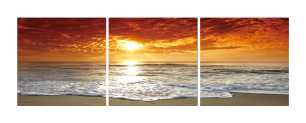 Corsica Sunset Triptych