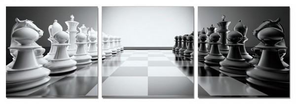 Chess Set Triptych