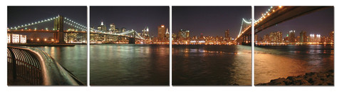 Manhattan Bridge In Four