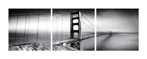 Golden Gate Black and White Triptych