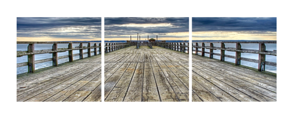 Along The Pier Triptych