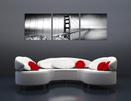 Golden Gate Bridge – Black and White Triptych