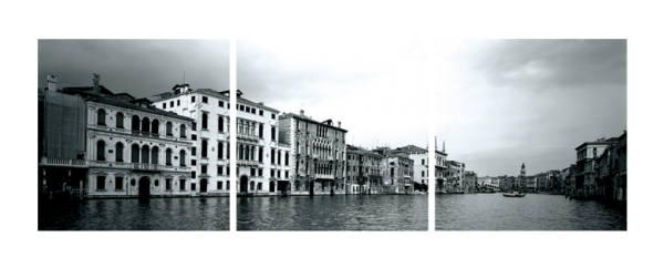 Venice, Italy Black and White Triptych