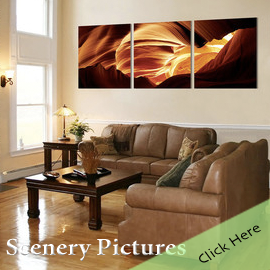 Scenery Pictures Photo Wall Art Triptych