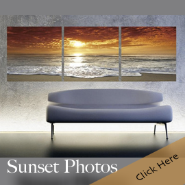 Sunset Pictures Photo Wall Art Triptych